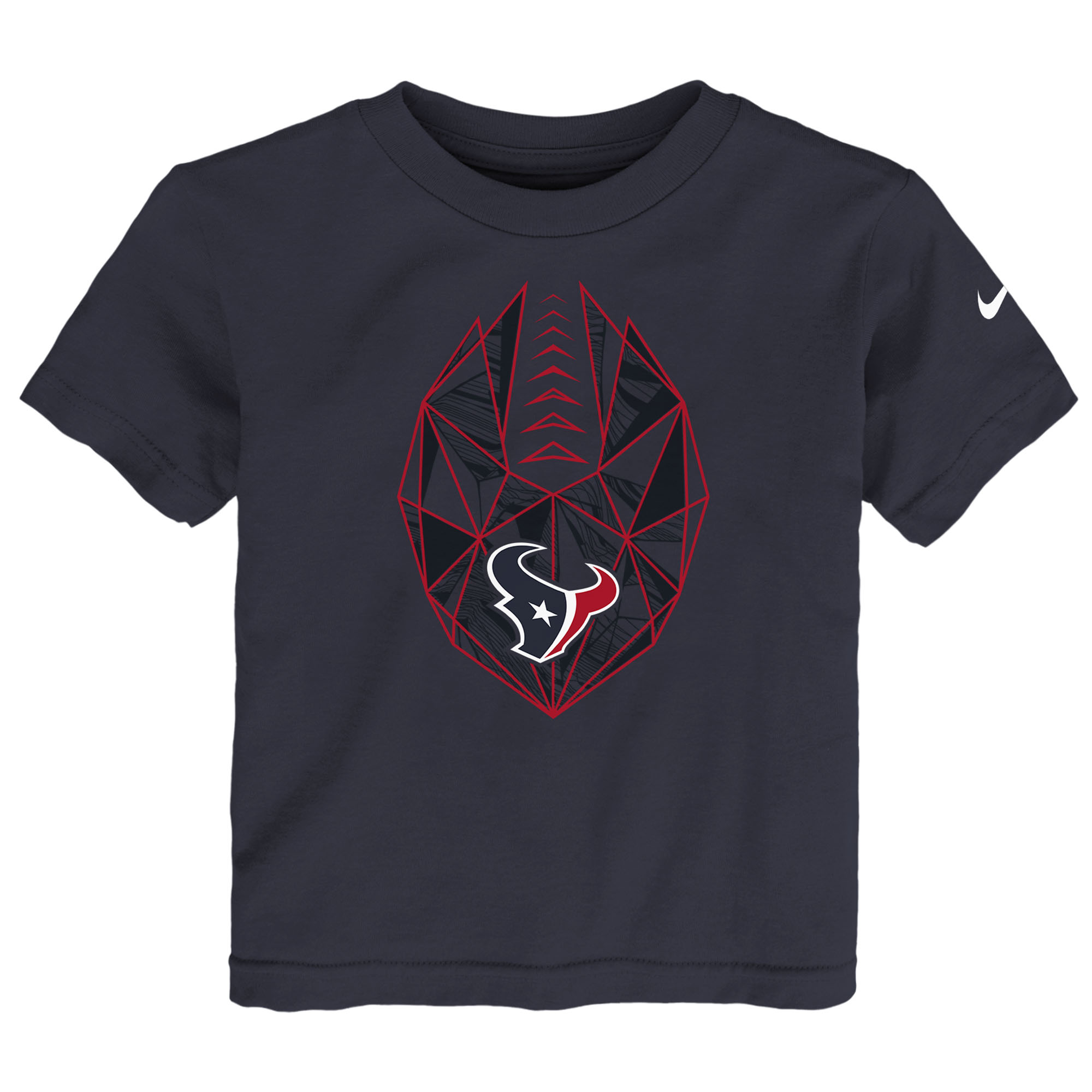 Houston Texans Nike Toddler Football Icon T-Shirt - Navy