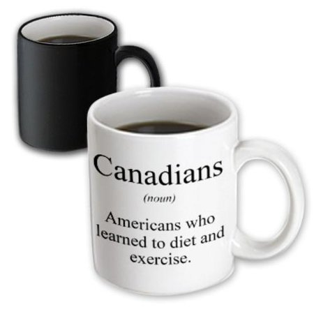 3dRose Canadians noun Americans who learned to diet and exercise., Magic Transforming Mug, 11oz (Diet Mug)