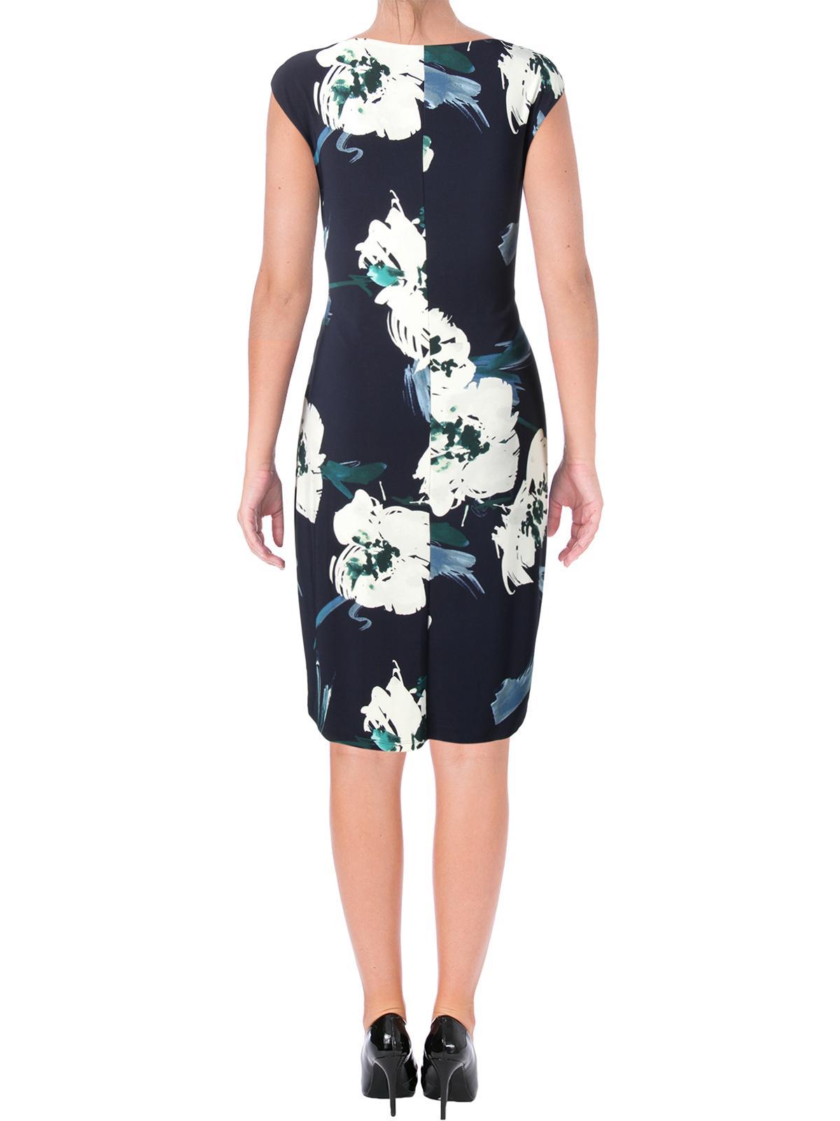 4a5e86f33e7 Lauren Ralph Lauren - Lauren Ralph Lauren Womens Valli Belvedere Floral Cowl  Neck Wear to Work Dress - Walmart.com