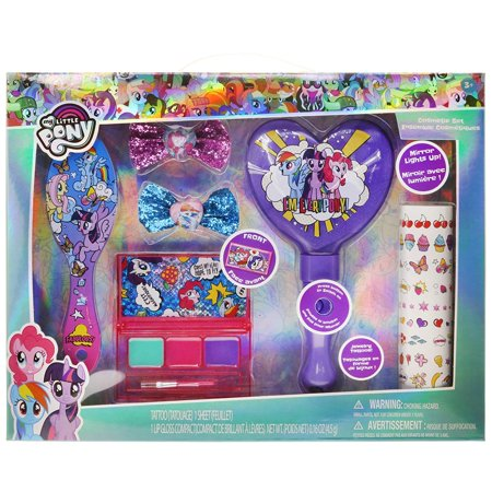 TownleyGirl My Little Pony Hair and Makeup Set, with Bonus Light Up Mirror