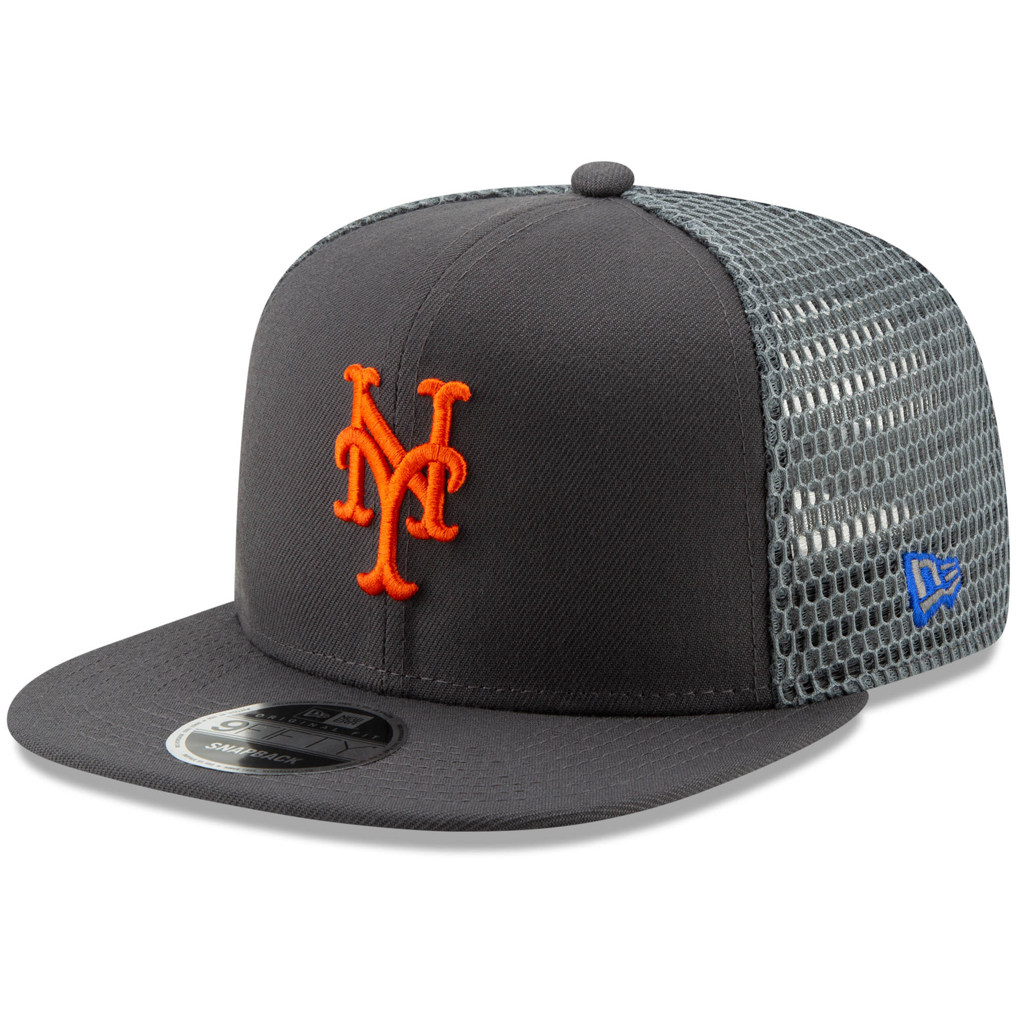 New York Mets New Era Mesh Fresh 9FIFTY Adjustable Snapback Hat - Graphite - OSFA