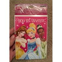 Unique 61169 Princess Party Invitations, Pink - Count 8
