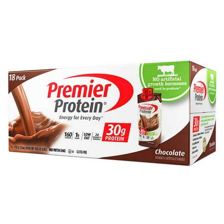 Premier Protein 30G Hormone Free Shakes   18 Shakes  11 Oz Each   Chocolate