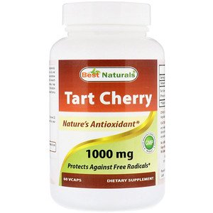 Best Naturals, Tart Cherry, 1000 mg, 60 Vcaps (Pack of