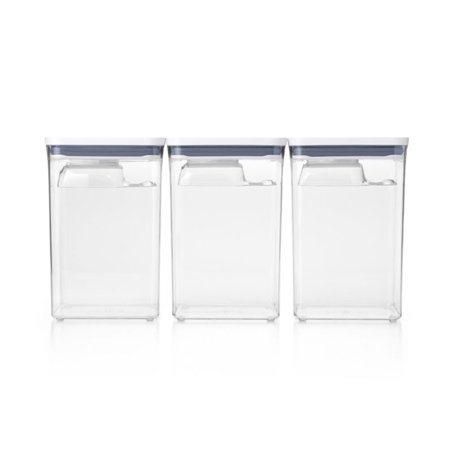 OXO Good Grips 6 Piece POP Food Storage Container Bulk Set with Lids, Clear