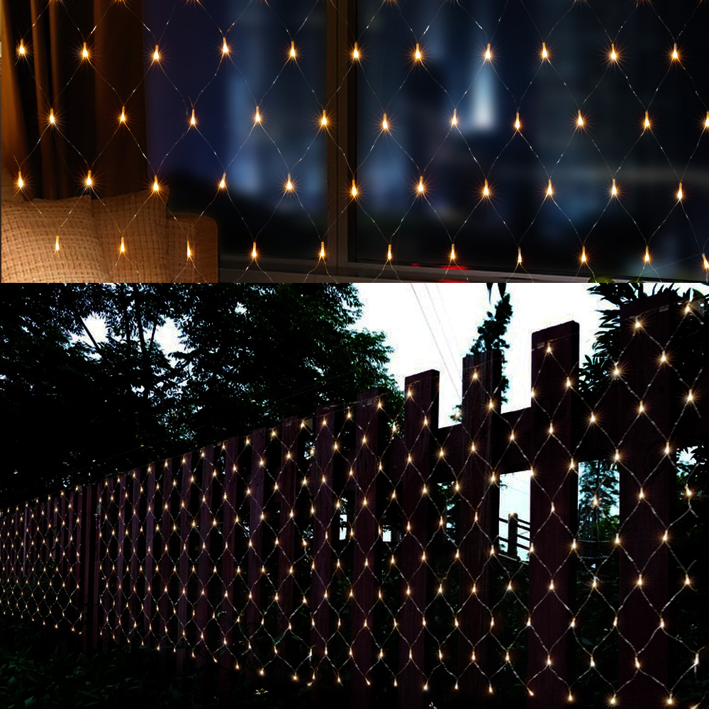 Image of 120 LED Net Mesh Fairy String Light, Connectable Net Lights Lighting for Christmas Party