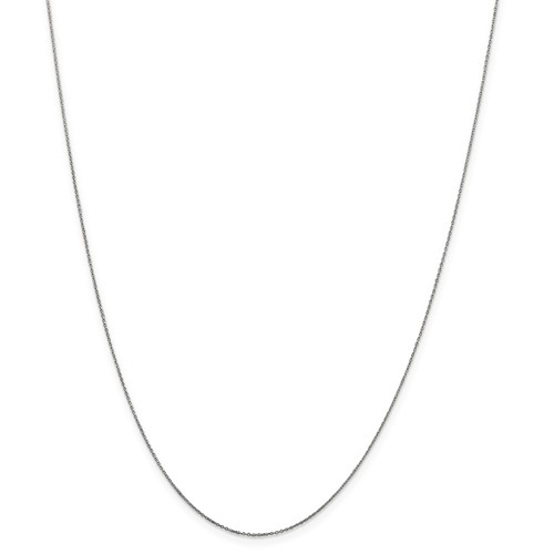 10k White Gold 16in .5mm Solid D/C Cable Necklace Chain