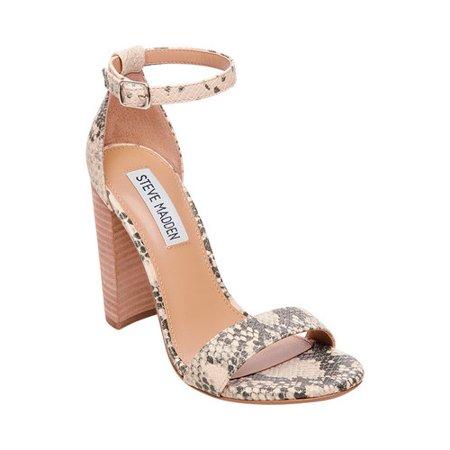 4c258522aa4c Steve Madden - Carrson Snake Block Heel Sandals - Walmart.com