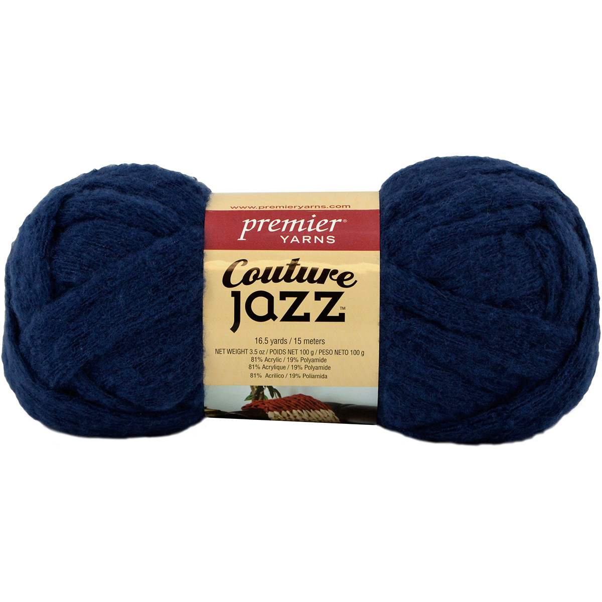 Premier Yarns Couture Jazz Yarn Navy Blue