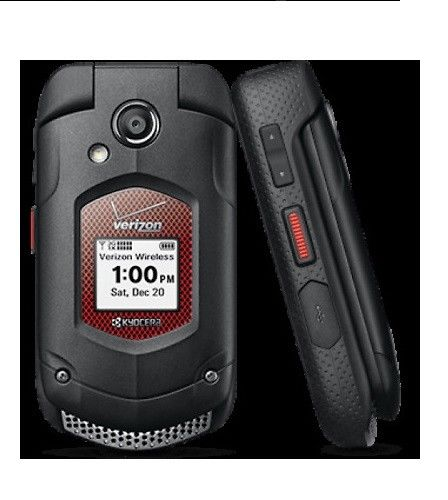 Kyocera DuraXV E4520 PTT Push To Talk - Black (Verizon) Cellular Phone Certified Refurbished