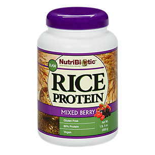 Rice Protein, Mixed Berry Nutribiotic 21 oz Powder