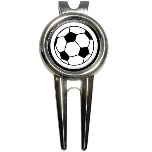 Soccer Ball Golf Divot Repair Tool and Ball Marker