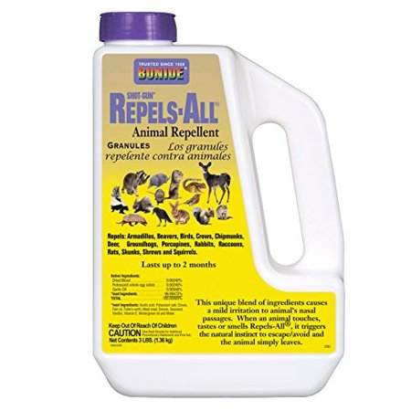 Bonide Products 2361 Repel Granules Animal Repellent, 3-Pound