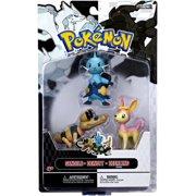 Dewott, Pink Deerling {Spring Form} & Sandile Figure 3-Pack Pokemon