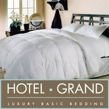 hotel grand oversized 500 thread count damask stripe white down comforter king. Black Bedroom Furniture Sets. Home Design Ideas