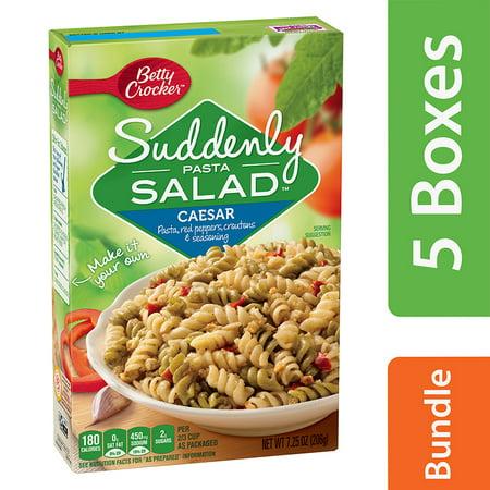 (5 Pack) Betty Crocker Suddenly Salad Caesar Pasta Salad Dry Meals 7.25 Oz Box