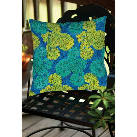Thumbprintz Funky Florals Paisley  Royal Blue Indoor/Outdoor