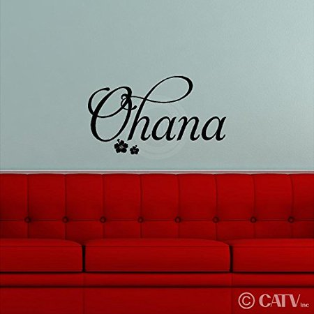 - Ohana Vinyl Lettering Wall Decal Removable Sticker (12.5