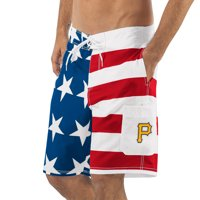 Pittsburgh Pirates G-III Sports by Carl Banks Americana Swim Trunks - Red/Blue