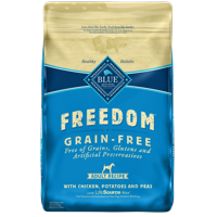Blue Buffalo Freedom Grain Free Natural Adult Dry Dog Food, Chicken, 24-lb