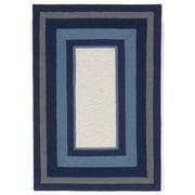 Liora Manne Newport Border Blue Indoor/Outdoor Area Rug