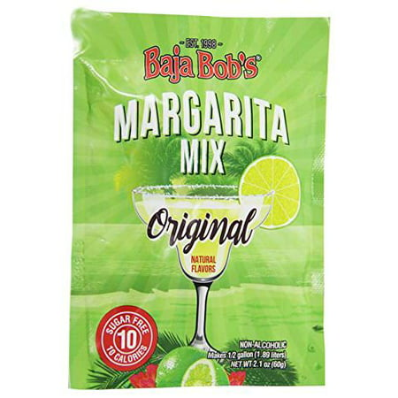 Baja Bob's Sugar-Free Original Margarita Mix - Powdered Packet, - Margarita Shots