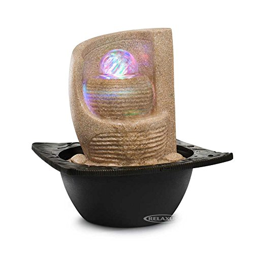 Decor Desk Zen Fan Indoor Water Fountain with LED by Relaxus