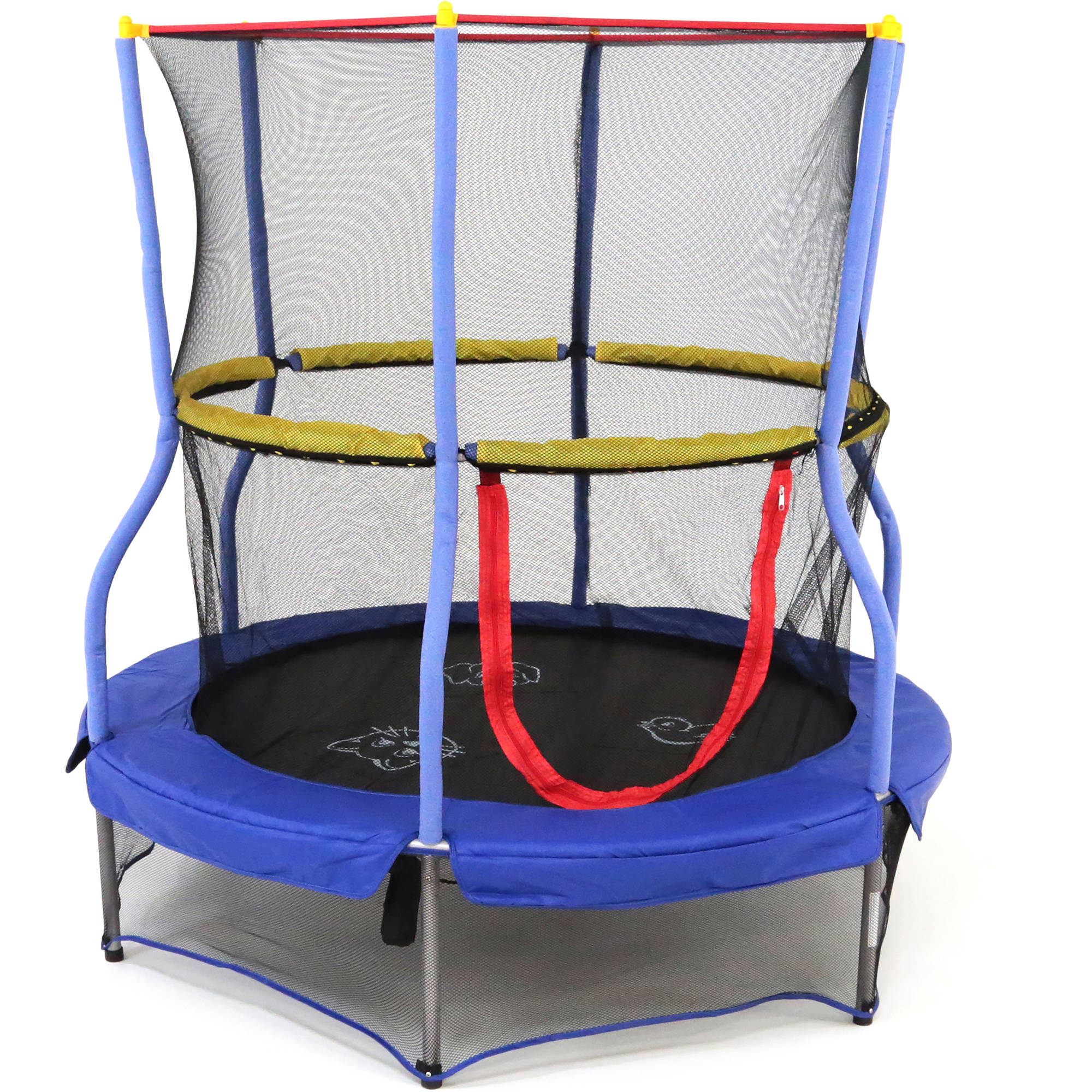 Skywalker Tr&olines 55-Inch Bounce-N-Learn Interactive Mini Bouncer Tr&oline with Safety Enclosure and Sound Blue - Walmart.com  sc 1 st  Walmart & Skywalker Trampolines 55-Inch Bounce-N-Learn Interactive Mini ...