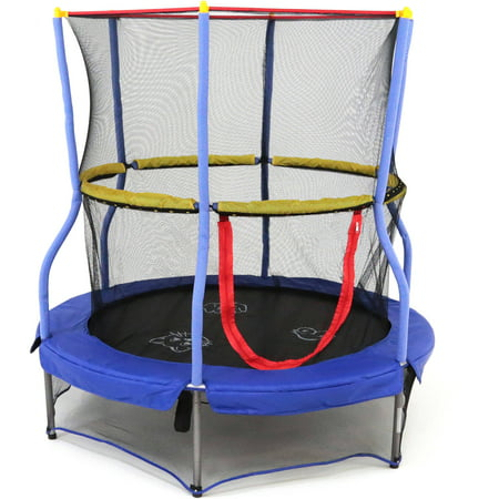 Skywalker Trampolines 55-Inch Bounce-N-Learn Trampoline, with Enclosure and Sound, (Best Dunks On A Trampoline)