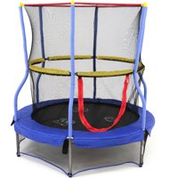 Skywalker Trampolines 55-Inch Bounce-N-Learn Trampoline, with Enclosure and Sound, Blue