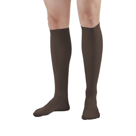 Ames Walker AW Style 100 Men's Dress 20-30mmHg Firm Compression Knee High Socks   - Relieve tired aching and swollen legs - Symptoms of varicose veins - Balloon toe - Fashionable rib knit (Mens Argyle Socks Knee High)