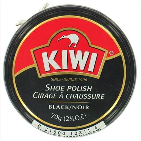 Kiwi Shoe Care Wax Shoe Polish, Giant Size 2.5 Oz, Black