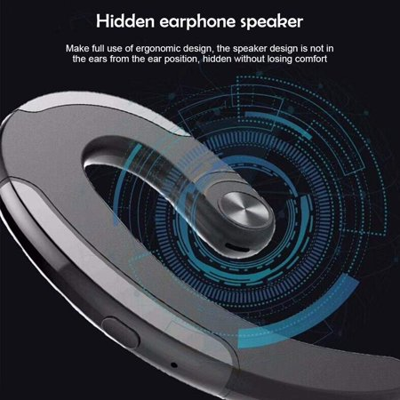 Bluetooth V4.2 Headphones Non Ear Plug Wireless Bluetooth Headset Small Noise Cancelling Earbuds Ear-Hook Painless Wearing Sport Earphones for iPhone and Android Smartphones - image 7 de 10