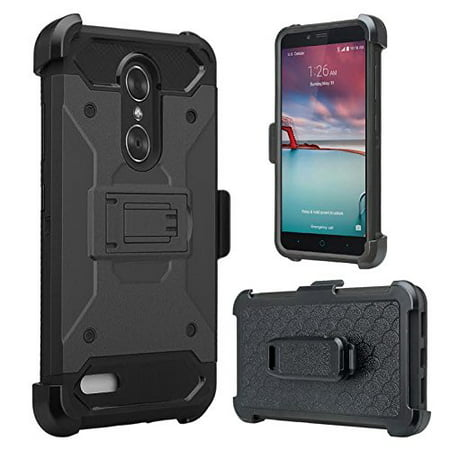 new style 9fb45 16ff5 ZTE ZMAX One (Z719DL) Case ZTE Grand X4, ZTE Blade Spark Z971 Case  [Military Strength] Heavy Duty Belt Clip Holster, Rugged Dual Layer Drop  Protection ...