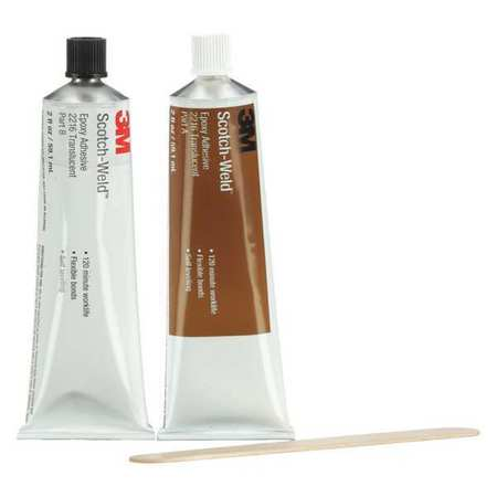 3M 2216 Epoxy Adhesive, Kit, 2 oz, Translucent, PK6 by 3M
