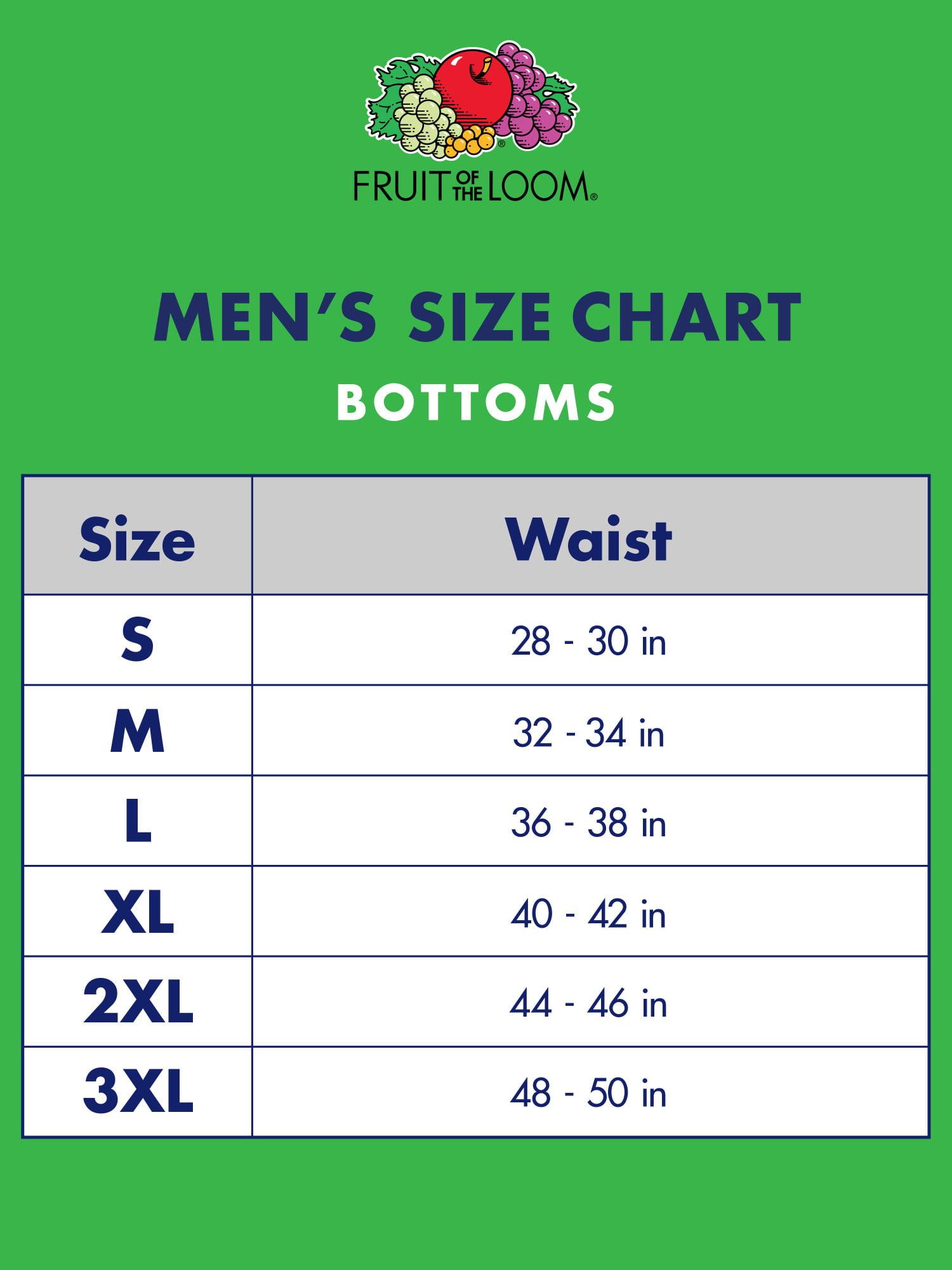 Fruit Of The Loom Briefs Size Chart Caska