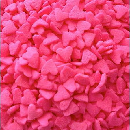 Mini Pink Hearts Edible Sprinkles - 2.6 oz - National Cake - Pink Sprinkles