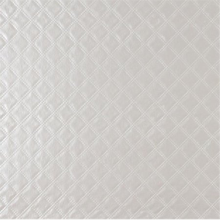 Designer Fabrics G349 54 in. Wide Silver, Shiny Metallic Diamonds Upholstery Faux Leather
