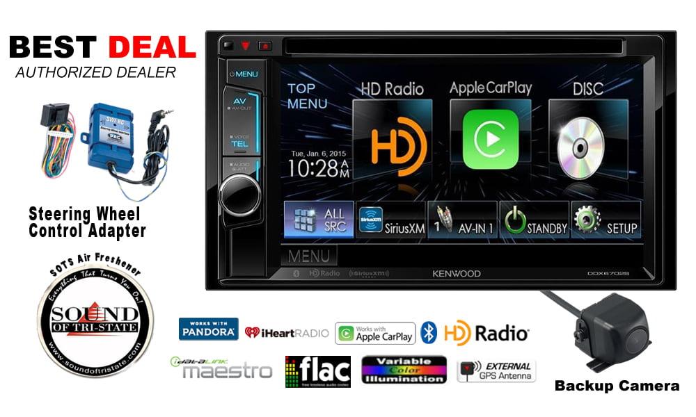 Kenwood DDX6702S DVD Receiver ApplePlay Backup Camera & Steering Wheel Controls by Kenwood