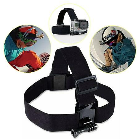 Headband Adapters Kit - Adjustable Elastic Mount Belt Headband Adapter Outdoor Head Strap For HD Hero 3/3+4/5/6 Camera