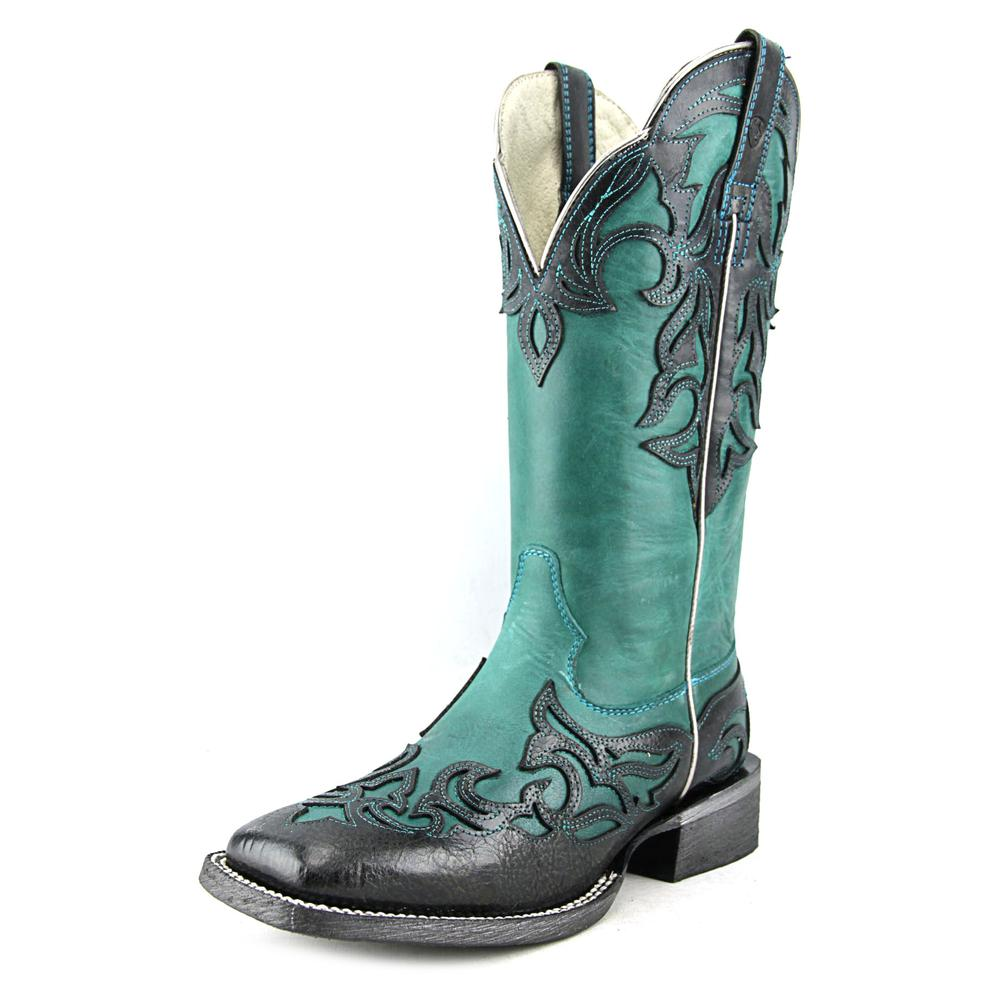 Ariat Cassidy Square Toe Leather Western Boot by Ariat