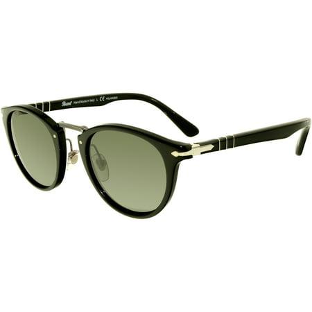 da29f3b0e06 Persol - Persol Men s Polarized PO3108S-95 58-47 Black Oval Sunglasses -  Walmart.com
