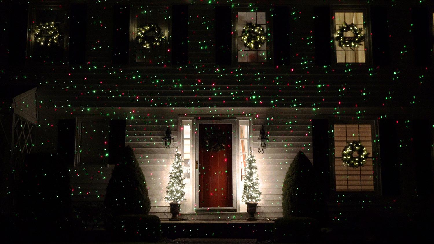 outdoor dynamic red green christmas laser light projector with remote control