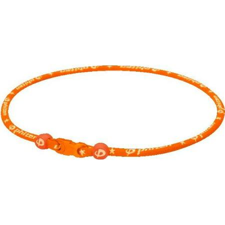 Phiten Aqua Titanium Necklace - Phiten Classic Titanium Necklace (Orange, 22)