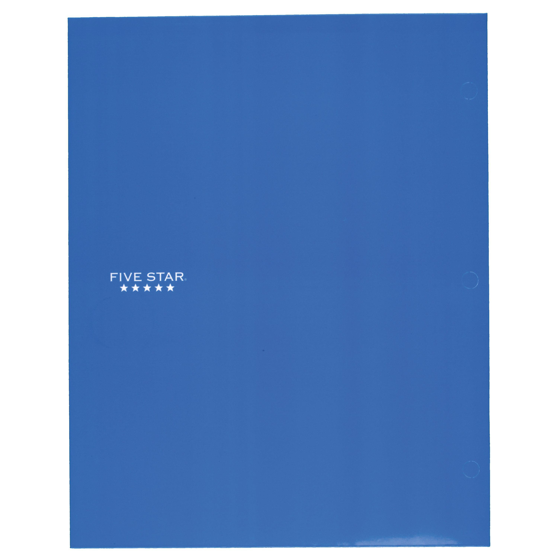 Mead Five 5 Star 4 Four Pocket Paper Folder Durable Laminate Conversions Black