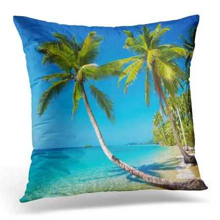 Thai Positioning Pillow - ARHOME Blue Tropic Tropical Beach Kood Island Thailand Paradise Pillows case 18x18 Inches Home Decor Sofa Cushion Cover