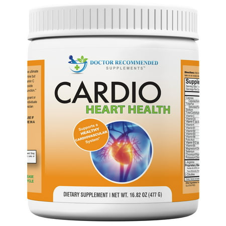 Doctor Recommended Cardio Heart Health L-Arginine Supplement with L-Citrulline & Multivitamins, 30