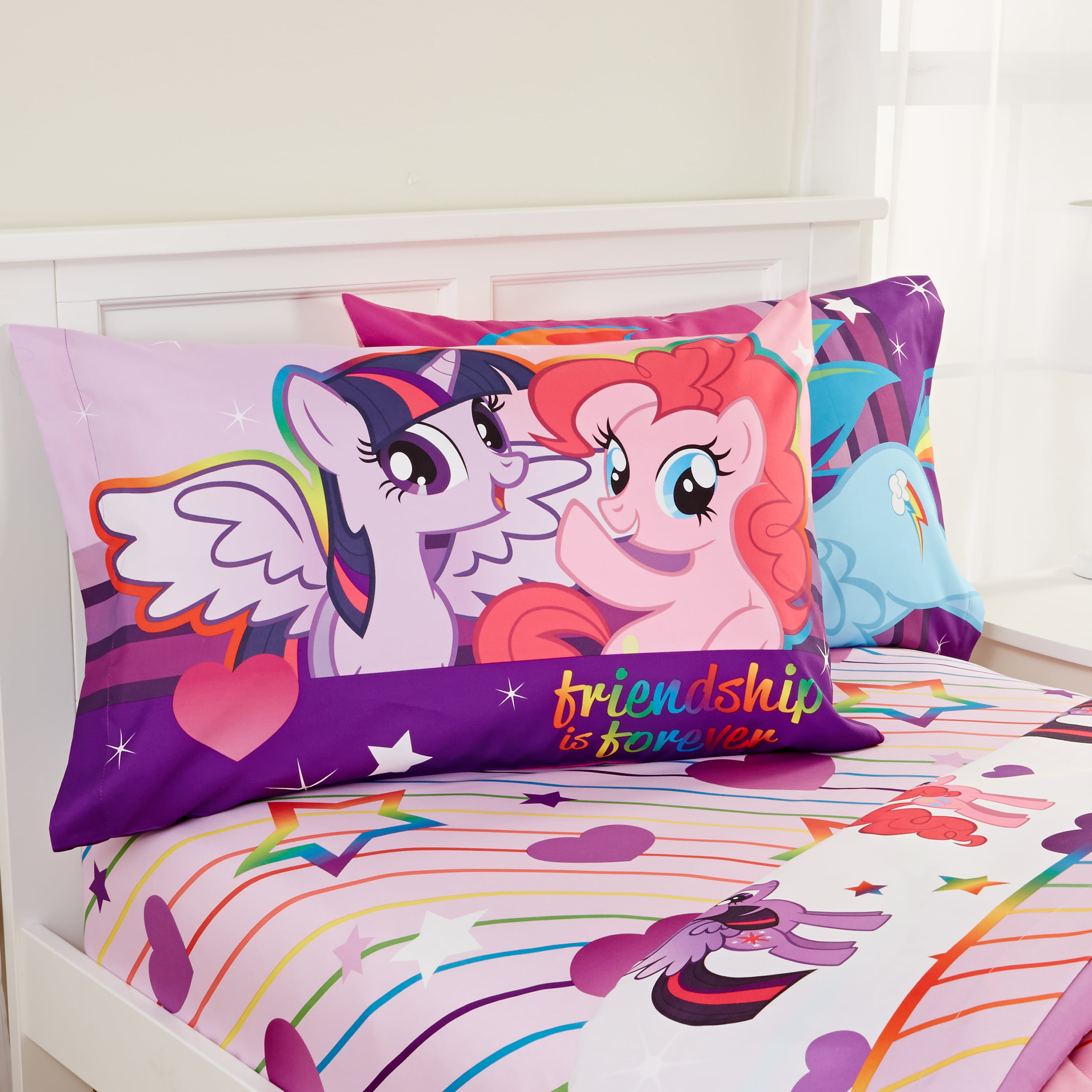 My Little Pony Sheet Set, Kids Bedding, Pink and Purple, 3 Piece