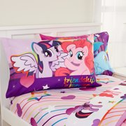 My Little Pony Sheet Set, Kids Bedding, Pink and Purple, 3-Piece TWIN