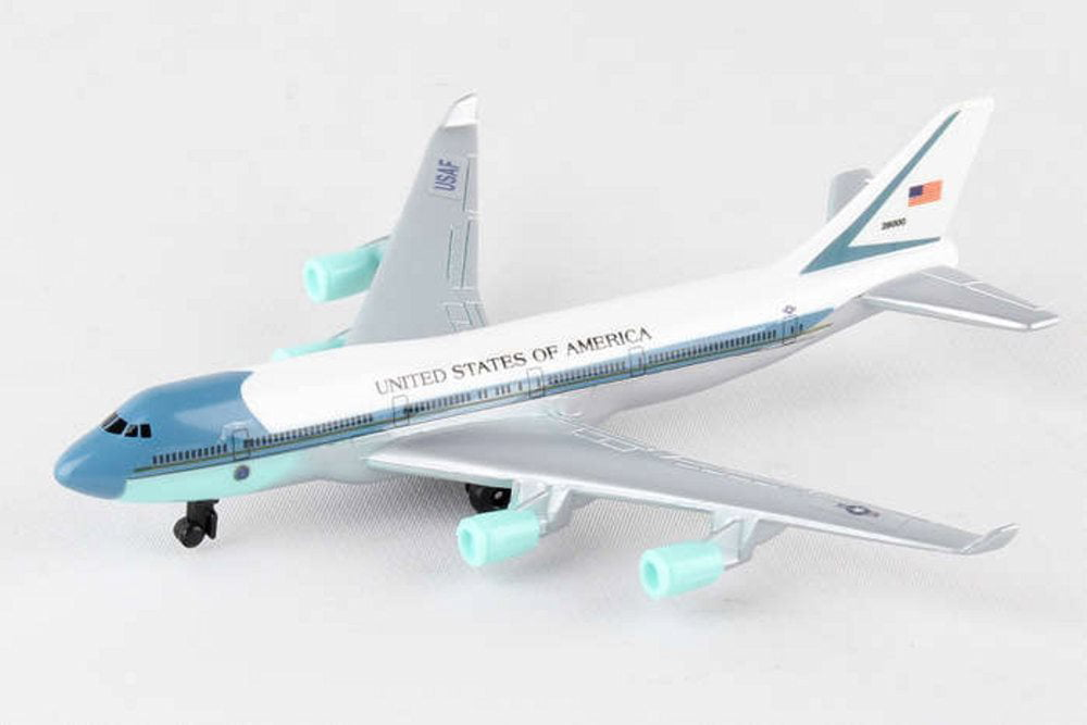 Air Force One Single Plane, White Daron RT5734 Diecast Model Airplane Replica by Showcasts